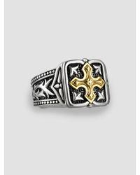 Scott Kay - Metallic Unkaged 18k Gold Cross Ring for Men - Lyst