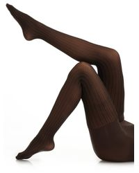 Spanx - Black Ribbed Striped Tights - Lyst