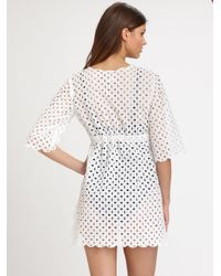 Tory Burch - White Eyelet Tunic - Lyst
