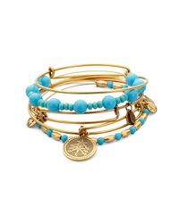 ALEX AND ANI | Blue Always Love Expandable Wire Bracelet Set | Lyst