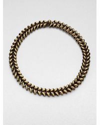Giles & Brother - Metallic Ceres Antiqued Choker - Lyst