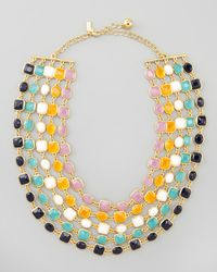 Kate Spade - Multicolor Multistrand Bib Necklace - Lyst