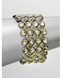 Konstantino | Metallic Semiprecious Multistone Multirow Sterling Silver Bracelet | Lyst