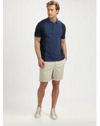 Vince - Blue Colorblock Polo for Men - Lyst