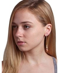 BaubleBar - Metallic Chained Peach Drops - Lyst