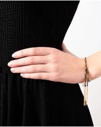 Carolina Bucci - Black Lucky 18karat Gold and Silk Charm Bracelet - Lyst