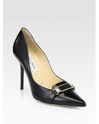 Jimmy Choo | Black Vecta Patent Leather Pumps | Lyst