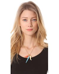 Kenneth Jay Lane | Multicolor Tooth Horn Necklace | Lyst