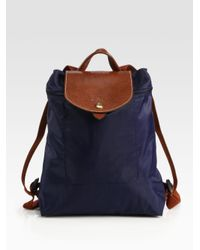 Longchamp | Blue Le Pliage Backpack | Lyst