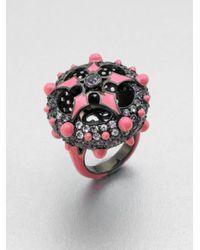 M.c.l  Matthew Campbell Laurenza - Gray Enamel Semiprecious Multistone Ring - Lyst