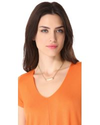 Serefina - Metallic Delicate Double Chain Necklace - Lyst