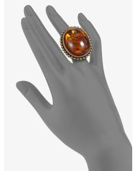 Stephen Dweck | Yellow Amber Stone Oval Ring | Lyst