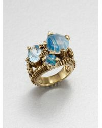 Stephen Dweck - Blue Semiprecious Multistone Bronze Ring - Lyst