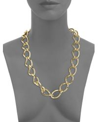1AR By Unoaerre - Metallic Twisted Link Necklace - Lyst