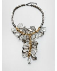ABS By Allen Schwartz | Gray Cluster Y Necklace | Lyst