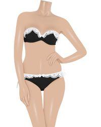 Agent Provocateur | Black Flirty Bunny Twotone Bandeau Bikini Top | Lyst