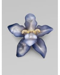 Alexis Bittar | Purple Large Orchid Pin | Lyst