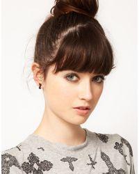 ASOS - Black Multipack Of Bone Stud Earrings - Lyst