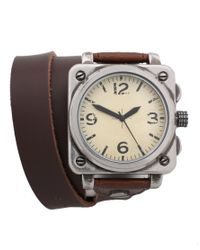 ASOS | Brown Asos Wraparound Leather Watch for Men | Lyst