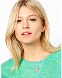 ASOS Collection - Metallic Limited Edition Glasses Moustache Charm Necklace - Lyst