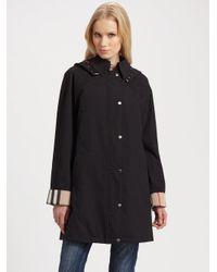 Burberry Brit | Black Hattingly Raincoat | Lyst