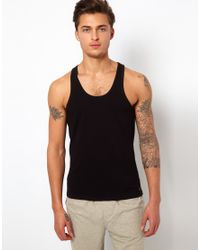 Calvin Klein | Black 2 Pack Vest In Regular Fit for Men | Lyst