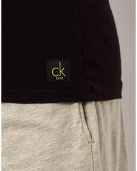 Calvin Klein - Black 2 Pack Vest In Regular Fit for Men - Lyst