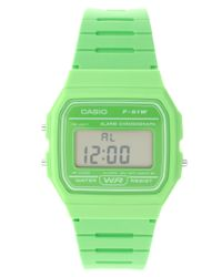 G-Shock | F-91wc-3aef Digital Green Watch | Lyst