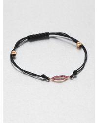 Diane Kordas - Black Pink Sapphire Kiss Bracelet - Lyst