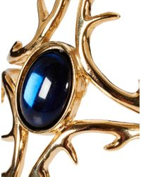 House of Harlow 1960 - Metallic House Of Harlow 14ct Gold Antler Cuff with Cabochon Stone - Lyst