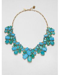 kate spade new york | Cluster Bib Necklace | Lyst