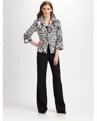Lafayette 148 New York | Gray Ikat Print Faille Jacket | Lyst