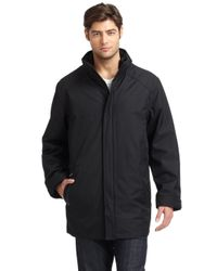 Rainforest - Black Twill Rain Jacket for Men - Lyst