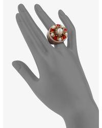 Ranjana Khan - Metallic Coral Freshwater Pearl Ring - Lyst