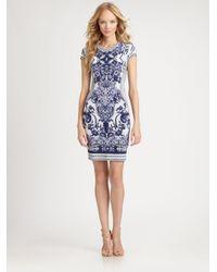 Roberto Cavalli - Multicolor Floral Intarsia Knit Dress - Lyst