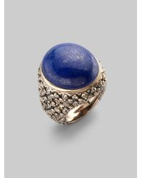 Stephen Dweck - Blue Lapis Quilted Flower Ring - Lyst