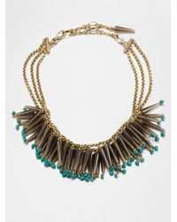 Stephen Dweck | Metallic Smoky Topaz Turquoise Bib Necklace | Lyst