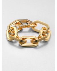 Tory Burch - Metallic Oversized Chain Bracelet - Lyst