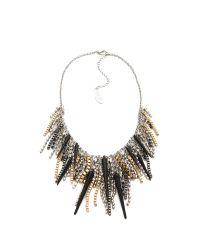 Adia Kibur - Metallic Spike Crystal Necklace - Lyst