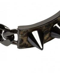 AllSaints - Black Daumier Bracelet - Lyst
