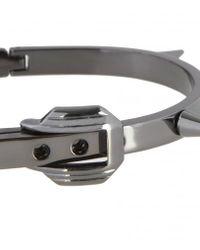 AllSaints - Black Spike Buckle Bracelet - Lyst