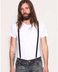ASOS Collection - Black Asos Braces for Men - Lyst