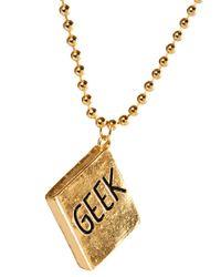 ASOS - Metallic Geek Necklace for Men - Lyst