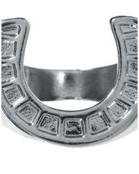 ASOS - Metallic Horse Shoe Ring for Men - Lyst