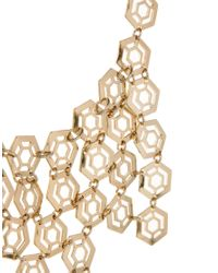 French Connection | Metallic Hexagon Collar Necklace | Lyst