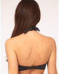 Freya | Black Pier Spot Halter Neck Bikini Top | Lyst