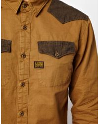 G-Star RAW - Brown Shirt Police for Men - Lyst