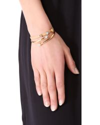 Gorjana - Brown Daphne Leather Bracelet - Lyst
