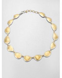 Gurhan | Metallic Elements 24k Yellow Gold & Sterling Silver Amorphous Link Necklace | Lyst