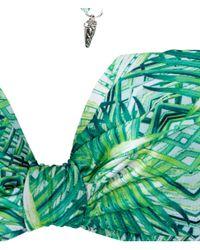H&M - Green Triangle Bikini Top - Lyst